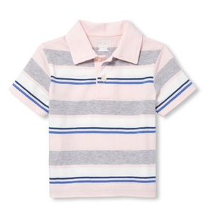 NWT Children's Place Pink/Gray Polo Shirt Top 4T